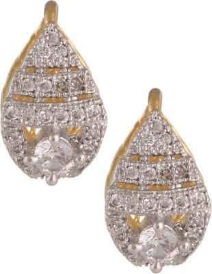 Fashionaya Precious Leaf Cubic Zirconia Alloy Stud Earring
