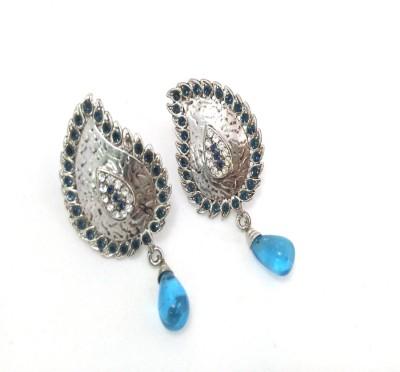 Fashion Pitaraa Silver Sparkel Stainless Steel Drop Earring