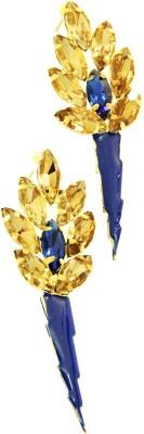 Ornamas Copper, Stone, Enamel Drop Earring