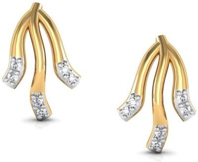 Avsar Mamata Yellow Gold 18kt Diamond Stud Earring