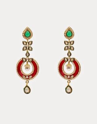 Oars Rajwada Alloy Drop Earring