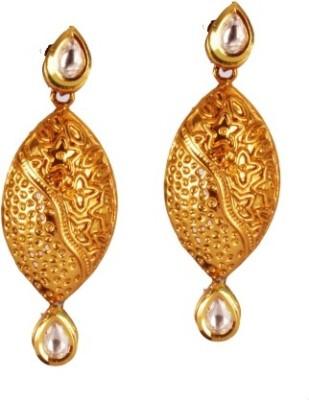 Ratnaraj India Colour AD Stone Drop Copper Earring Set