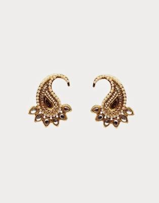 Oars Paisley Earring Alloy Stud Earring