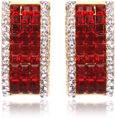 Eclat 1111140GS Swarovski Crystal Alloy, Brass Huggie Earring