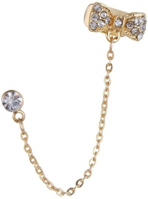 Fayon Fashion Statement Golden Chain With Bow Style Crystal Alloy Cuff Earring