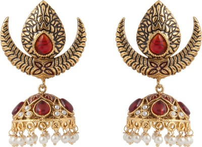 Aaina Home Decor Trendy Cubic Zirconia Copper Jhumki Earring