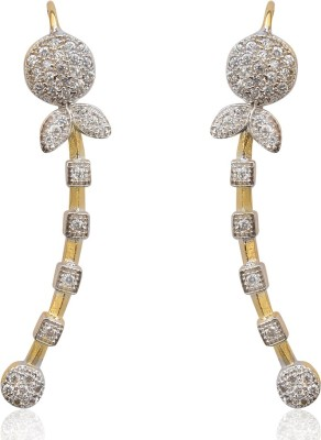 Ethnic Jewels American Diamonds Cubic Zirconia Alloy Cuff Earring