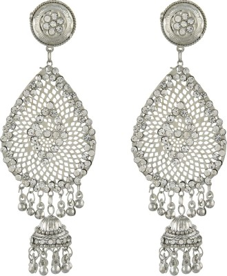 Dimple Creation spring sparkle White Metal Chandelier Earring
