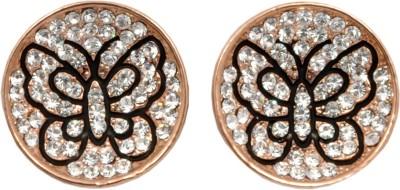 Royal Sterling Golden Alloy Stud Earring