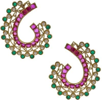 Anuradha Art Golden Polished Alloy Cuff Earring