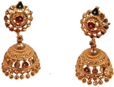 PFJ PFJ3018-EARRING Cubic Zirconia Brass, Copper Jhumki Earring