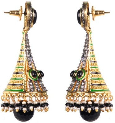 Dipshi Bollywood Style Beautiful A D Stone & Pearl Partywear Earring Copper Drop Earring