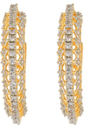 Fasherati Open Bali Style Gold Plated s Crystal Alloy Drop Earring at flipkart