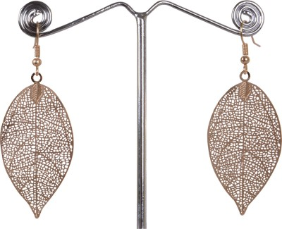 Angelfish leaf design long hollow out earning Alloy Dangle Earring