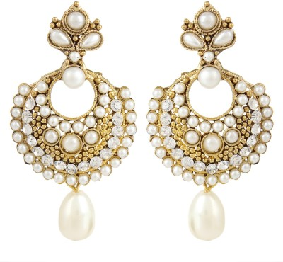 Bling N Beads Antique Pearl Alloy Chandbali Earring
