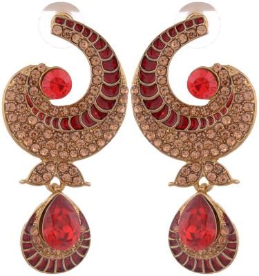 Grandiose Gold Stone diamond Non-Precious Metal Copper Dangle Earring