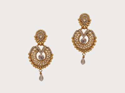 Oars Alloy, Acrylic Chandbali Earring