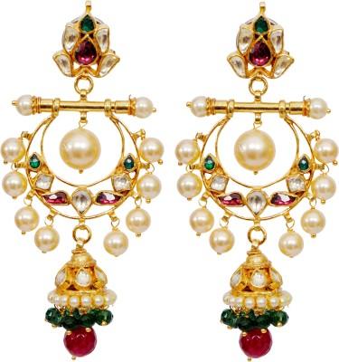 Khushbu Art Jewellers Kundan 06 Alloy Chandelier Earring
