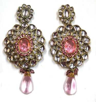 Fusion Jewels Sparkling Stones Jewellery Metal Drop Earring