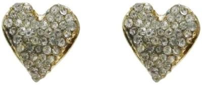 Amroha Crafts Valentine Special Rhineshone Heart Alloy Stud Earring