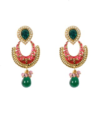 Indowave Antique classic red Alloy Drop Earring
