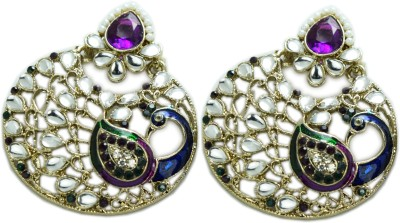Chouhan Stylish purple 22 Metal Chandbali Earring