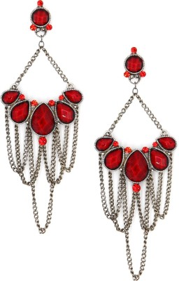 Madclozet Overlapping Chain Metal Chandelier Earring