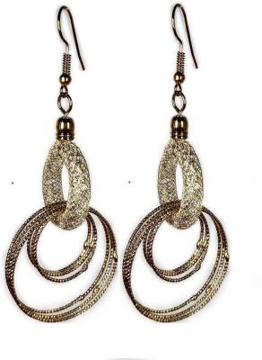 000 Fashions Diamond Wrapped Funky Golden Dangle Earrings Crystal Alloy Dangle Earring