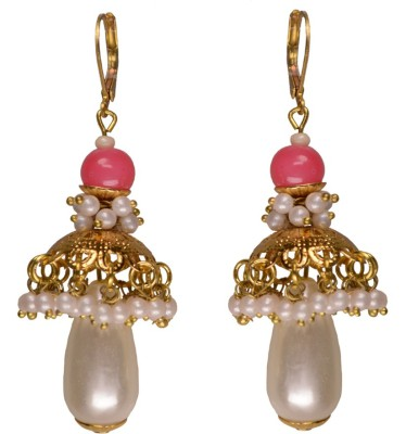 Rasaam Pink butterfly Beads Alloy Jhumki Earring