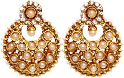 Bezel T - 384 - Pearl Alloy Chandbali Earring