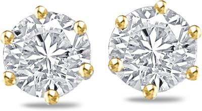 Sparkles Yellow Gold 18kt Diamond Stud Earring