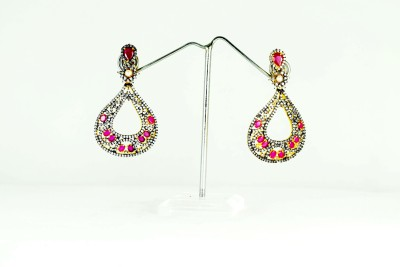 Chouhan Stylish black metal latkan Metal Drop Earring