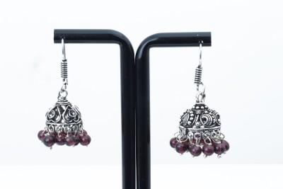 Waama Jewels pretty maroon Metal Jhumki Earring