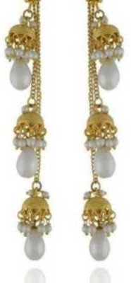 Happyshoppi Small And Cute Pearl Brass, Copper Drop Earring