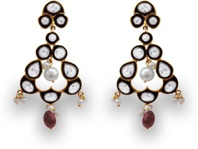 SuvidhaArts Traditional Fashion Cubic Zirconia Metal Drop Earring