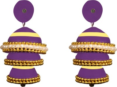 Scion Purple Treat Quilling Paper Jhumki Earring