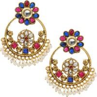 Prakruthi Kundan Pearl Alloy Chandbali Earring best price on Flipkart @ Rs. 477