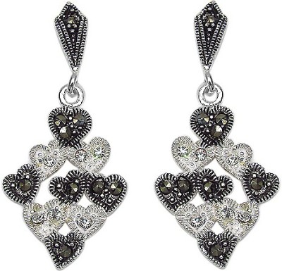 Johareez Beautiful Cubic Zirconia Sterling Silver Drop Earring