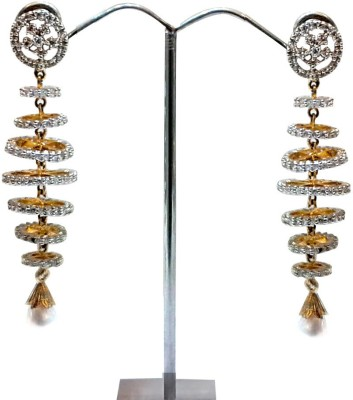 Dhandajewellers Dangler Crystal Alloy Drop Earring