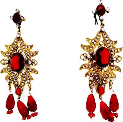 W Stop American Diomand Crystal Brass Drop Earring