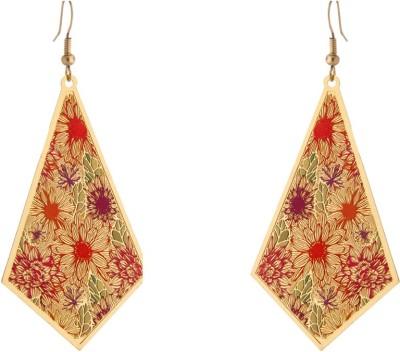 Circuzz Pretty Triangular Brass Dangle Earring