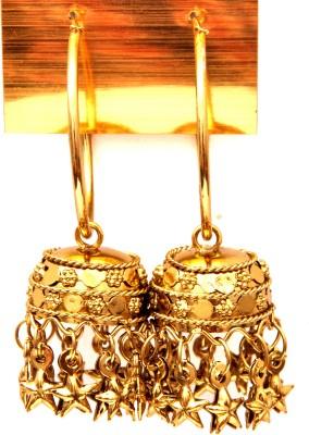 Fashion Era Golden Spurry Metal Jhumki Earring