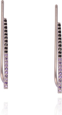 Kuhuk Precious Sparkles Cubic Zirconia Sterling Silver Cuff Earring