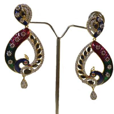 Aakhya EAR8 Diamond Rose Gold Drop Earring