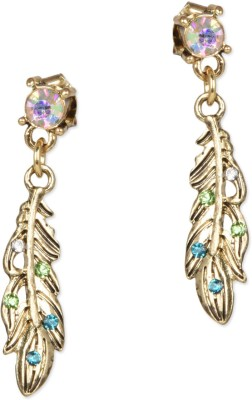 femnmas Crystal Leaf Party Zinc Drop Earring