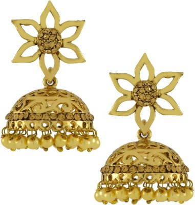 Naveli Filgree Copper Jhumki Earring