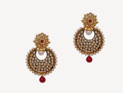 Oars Rajwada Style Alloy, Acrylic Drop Earring