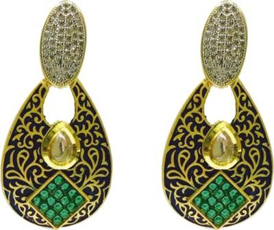 RK Style Partywear Brass Chandbali Earring