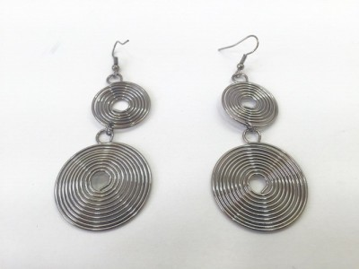 Arkina Diamonds Spiral earrings Brass Dangle Earring