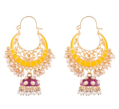 Kshitij Jewels Designer Alloy Chandbali Earring